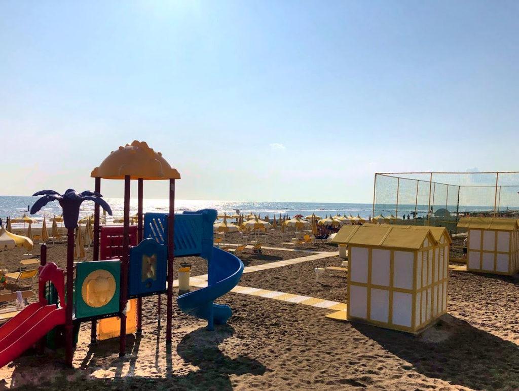 La spiaggia di Torrette di Fano